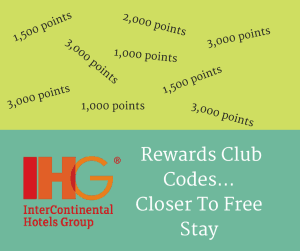 NEW IHG Rewards Club codes…closer to free stay