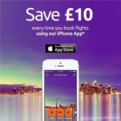 Opodo- Save £10 on Every flight by using their iphone App
