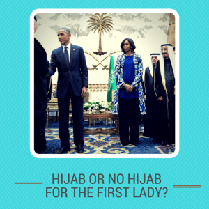 life is Michelle Obama in Saudi Arabia