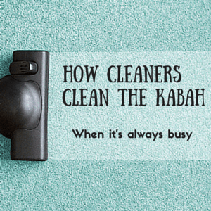 How do cleaners clean around the Kabah when it's always busy?