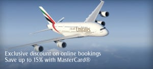 Emirates Promo code for up to 15% discount for flights in Economy and Business from Middle East