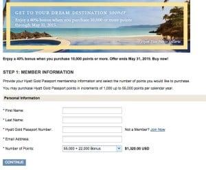 Hyatt 40% bonus with points purchase + Makkah hotel trick