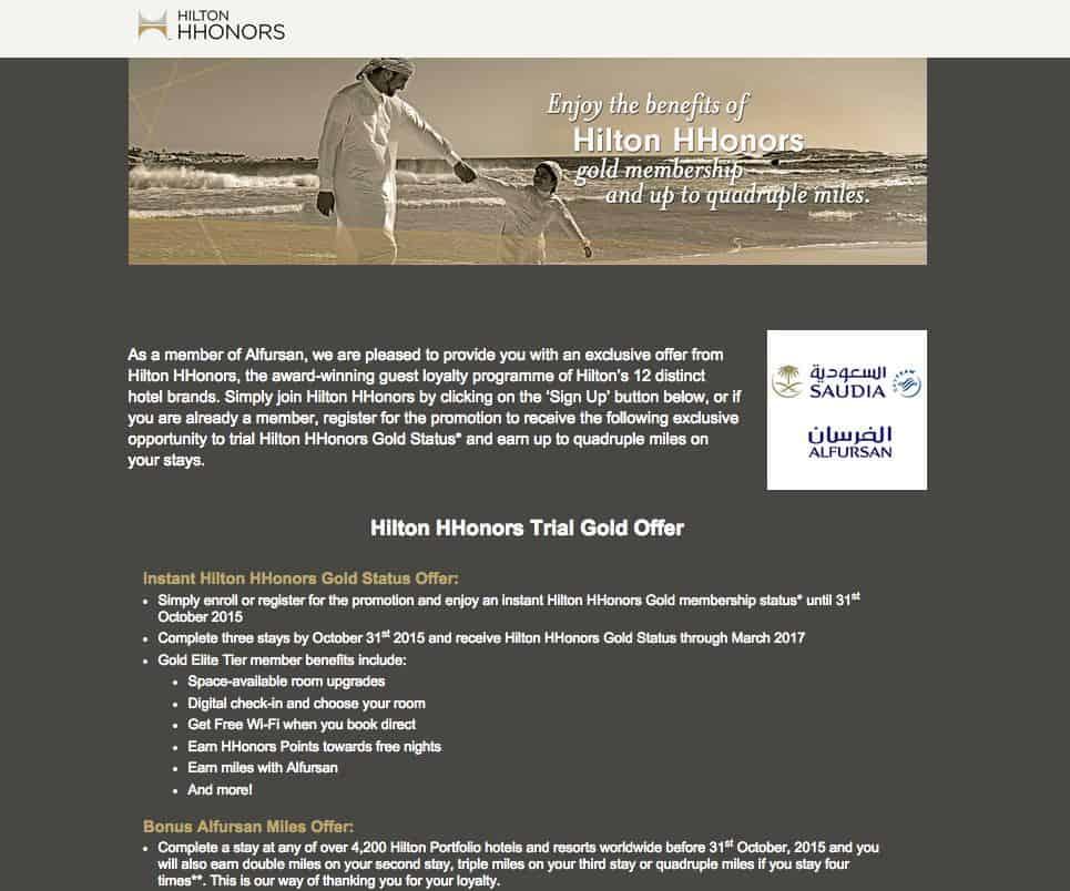Hilton and saudi offer