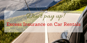 renting a car with a high excess insurance
