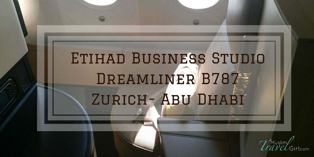 Etihad Business Studio Dreamliner 787 review of from Zurich to Abu Dhabi. Great use of your Etihad miles for a comfortable flight. What should you expect..