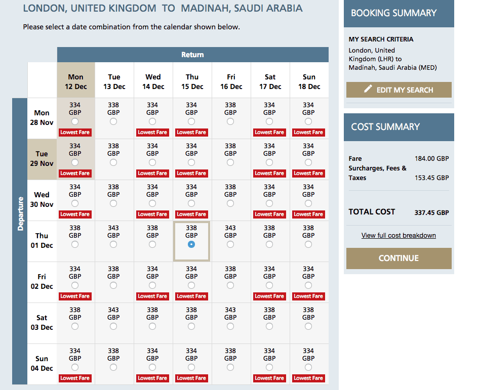 Saudi Airlines flight promotion