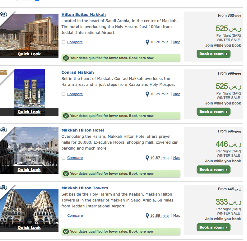 Step by Steps Awesome Deals on Umrah, Book for Less than £700 per person next to the Kabah!
