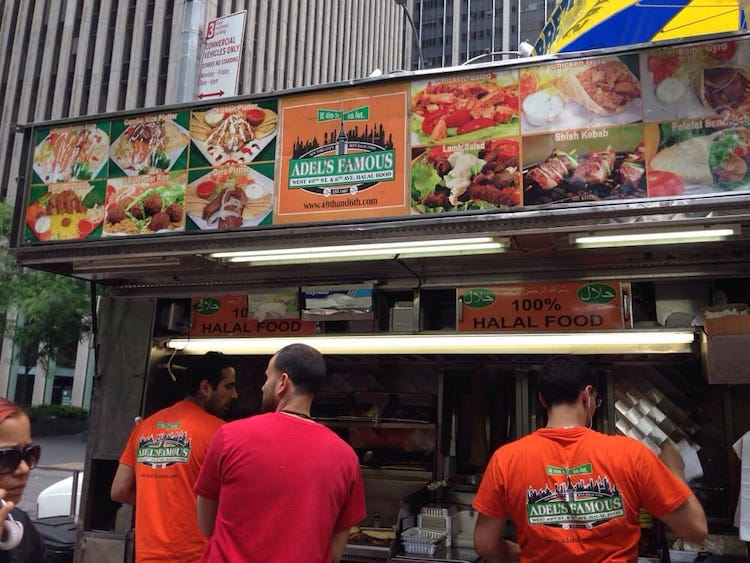 adels famous halal food cart in best halal food in new york