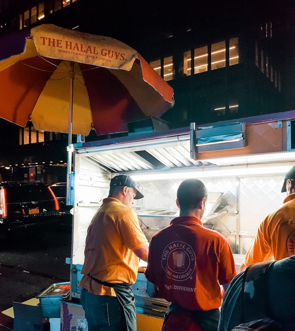 new york halal guys food cart muslim travel girl