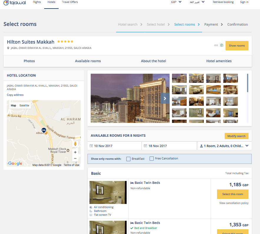 Have a 5 star DIY Umrah from £750 per person plus a chance to win a travel voucher