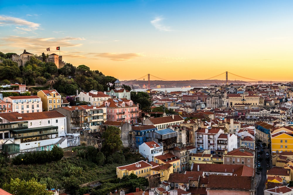 Muslim activities and tours to do in Lisbon, aerial view of the city