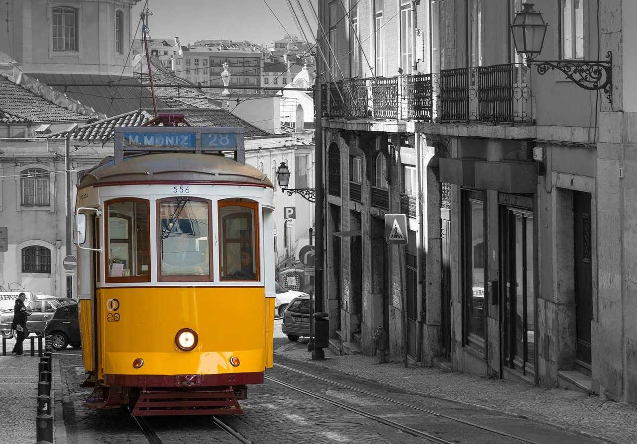 tram in lisbon and musilm friendly lisbon experience