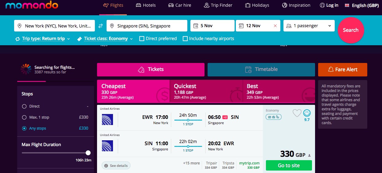 The Best Flight Deals This Autumn from North America, Europe from £225 per person