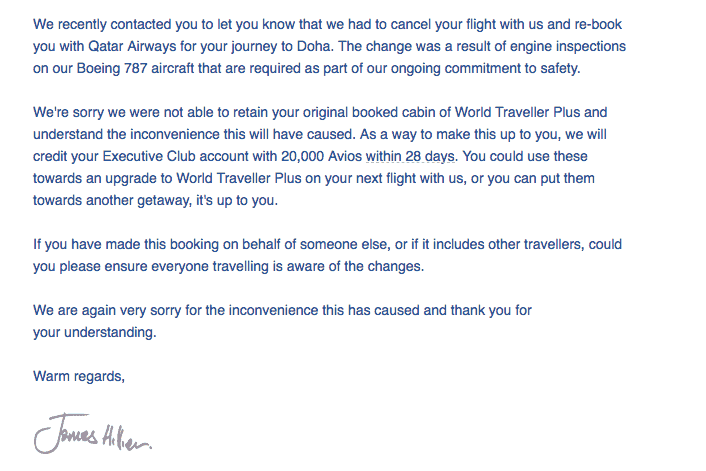 British Airways Downgrade and Compensation