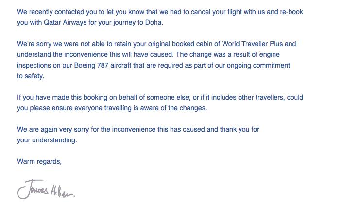 British Airways Downgrade and Compensation