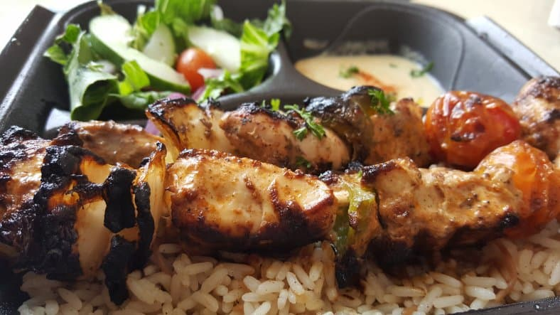 flame kabob chicken and rice in Halal Food Restaurants in Orlando Florida