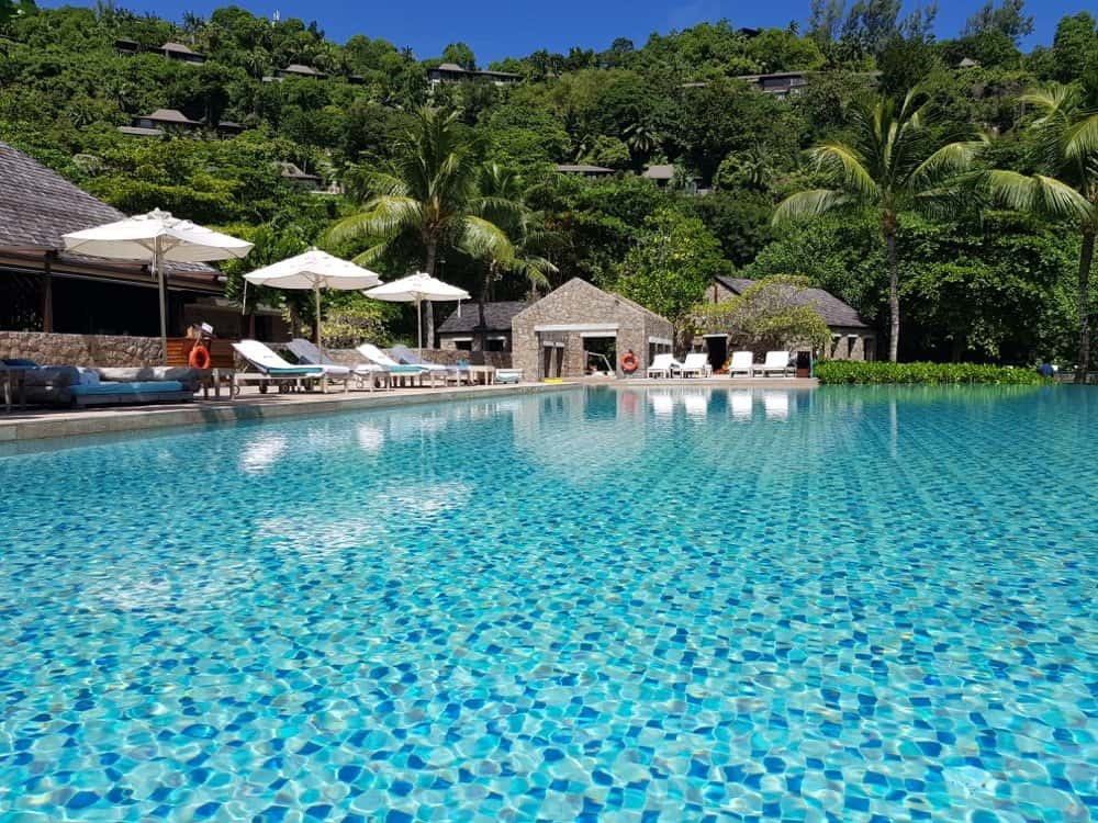 Four Seasons Seychelles the main pool area of the resort