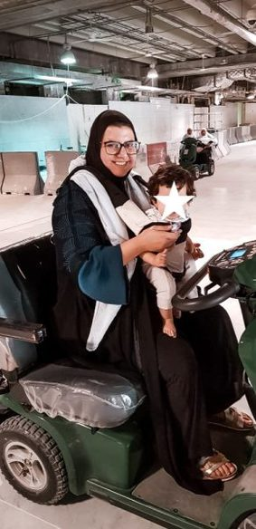 riding the scooters in Haram while on Umrah