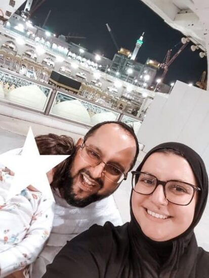 our first photo after umrah with baby