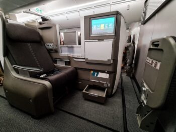 best european avios redemption in business class with flat bed