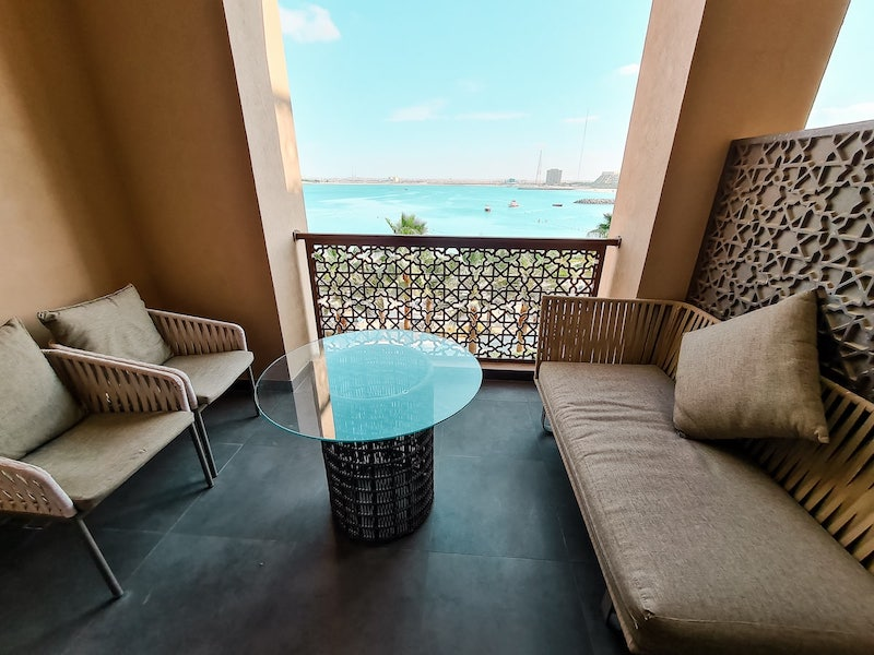 Hotel Review: Doubletree Hotel Ras Al Khaimah - the balcony