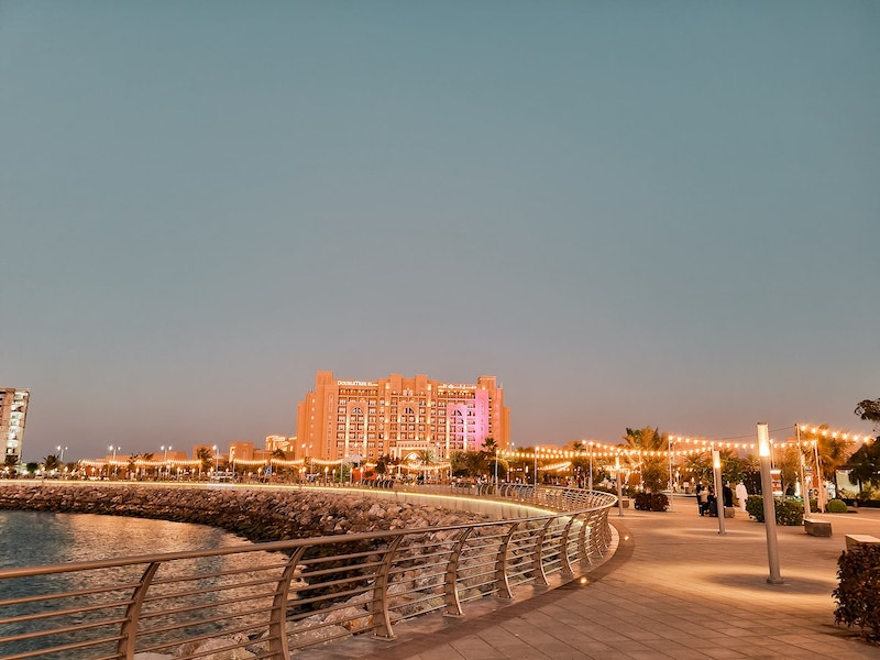 Hotel Review: Doubletree Hotel Ras Al Khaimah -view from promenade