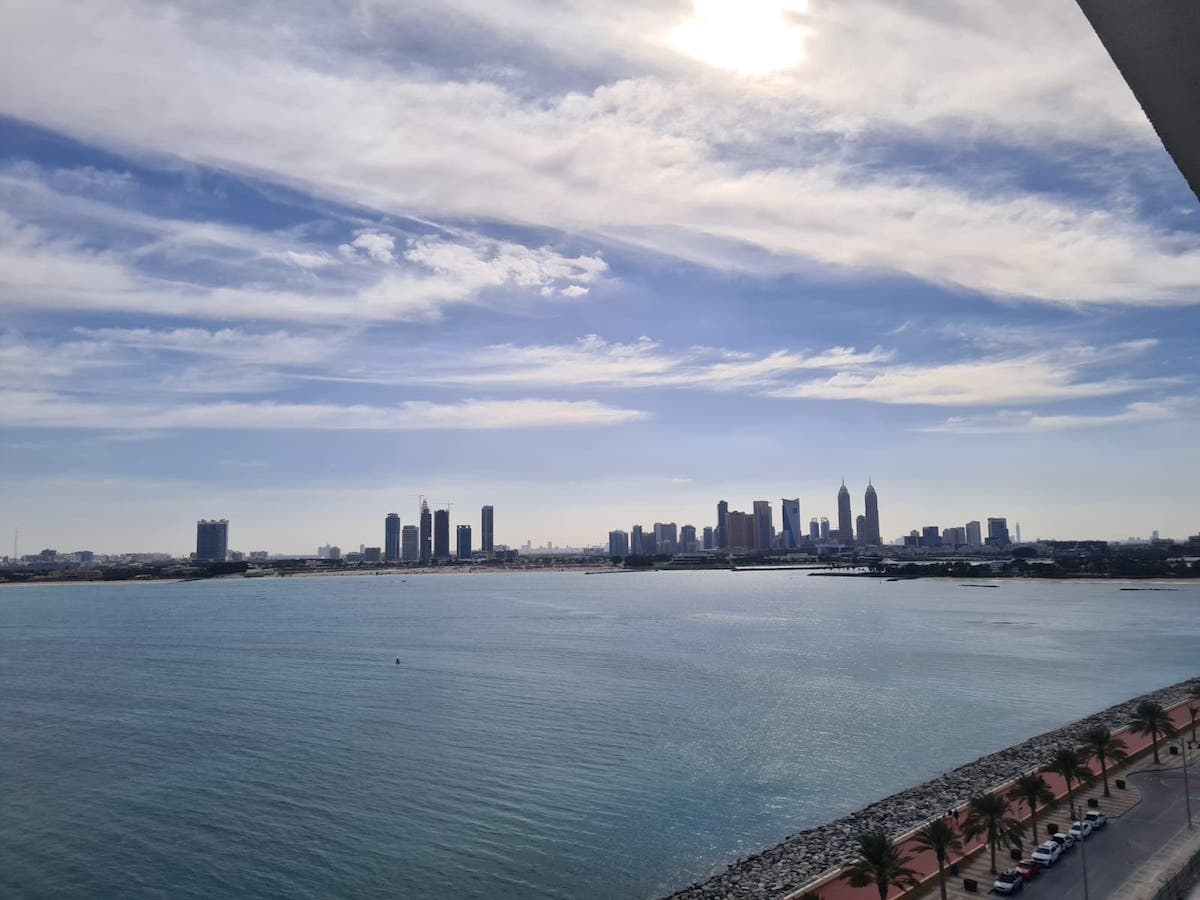 view from our hotel balcony overlooking dubai _1