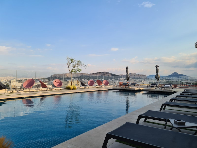 Grand Hyatt Athens hotel review rooftop view